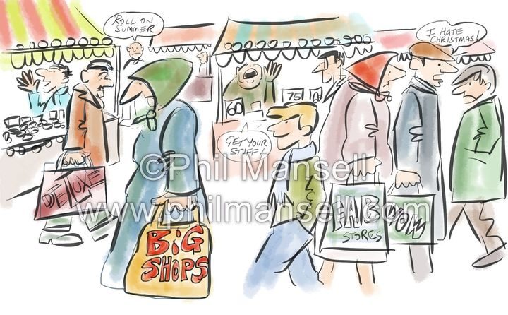 Christmas Shopping by Phil Mansell