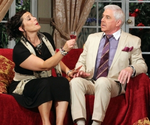 Angharad Jones as Claudia and Bob Brown as David in the stage version of 'According to Claudia'