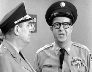 Colonel Hall and Sgt Bilko - roles that Terry and I often adopted.