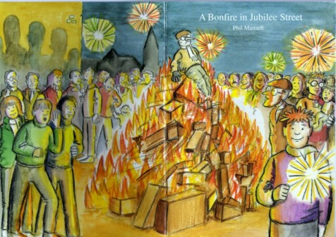 Cover art for 'A Bonfire in Jubilee Street' by Phil Mansell