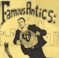 Famous Antics, an early BOI album. (ARTWORK BY PHIL MANSELL)
