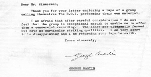 The letter from George Martin (PHIL MANSELL COLLECTION)