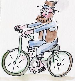 Mungo on Bike Sketch 1)