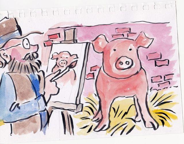 Pigsty Portrait (sketch)